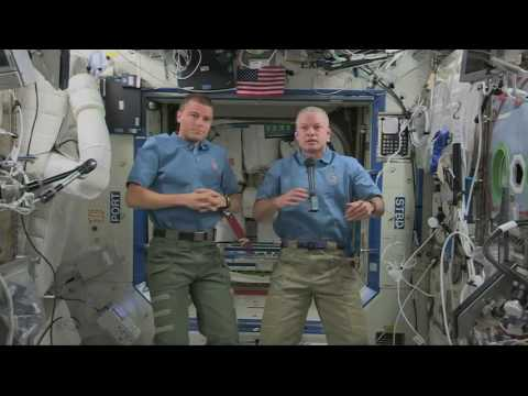 ISS Astronauts Appear in the House