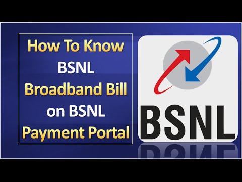 How To Know BSNL Broadband Bill On BSNL Payment Portal