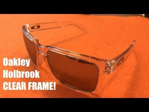23e5cbd56b3 Oakley Holbrook Clear Frame Sunglasses  Chrome Iridium Lens Review ...