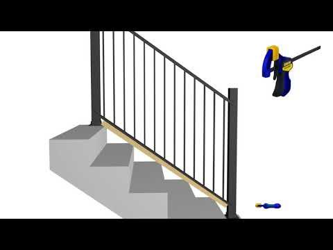 Harmony Railing™ | Aluminum Stair Railing Installation