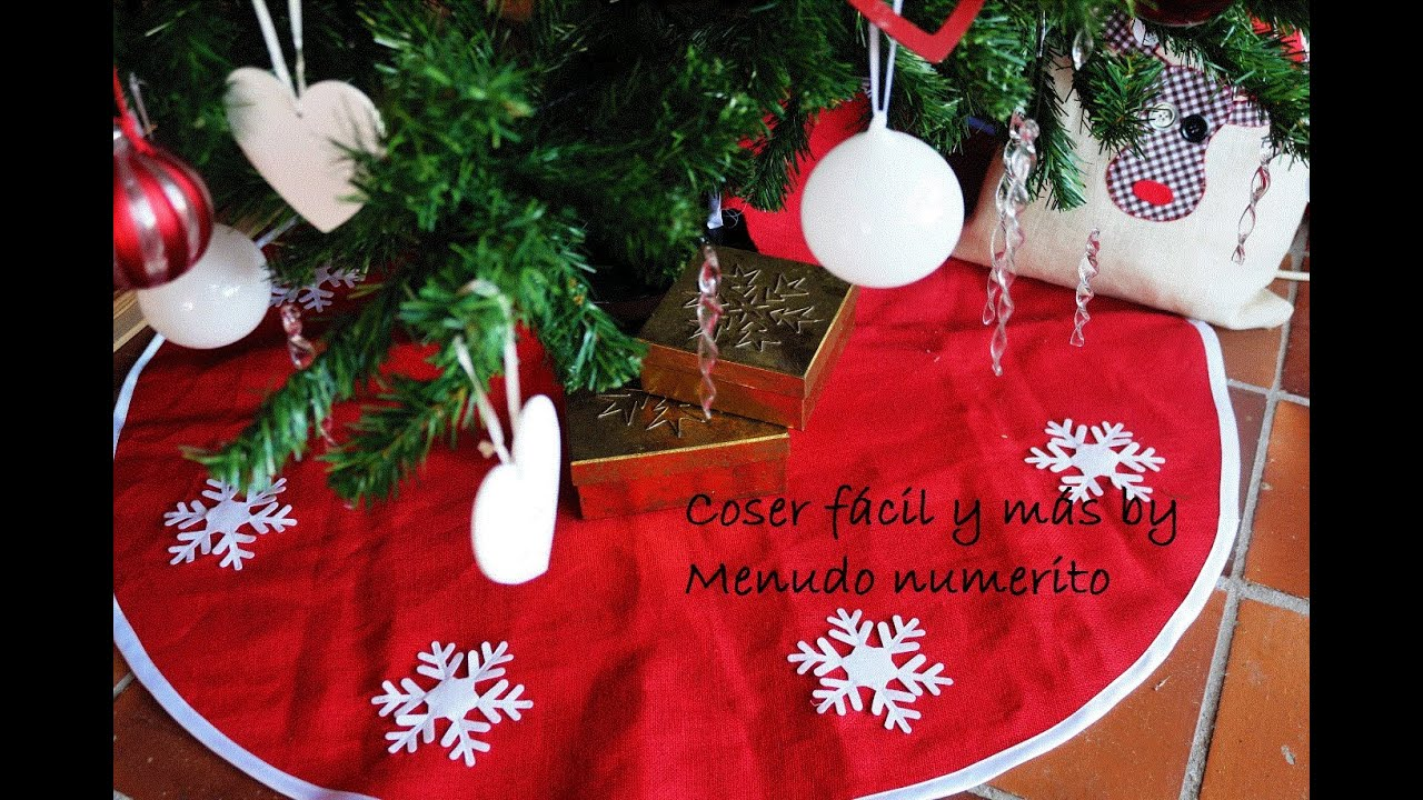 C mo hacer un fald n falda o pie de rbol navidad diy - Crear christmas de navidad ...