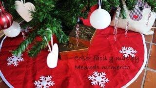 Cómo hacer un faldón, falda o pié de árbol Navidad / DIY Christmas tree skirt