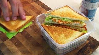 ОЧЕНЬ ВКУСНЫЙ ЛАНЧ с собой! Два простых рецепта! Сэндвич и Ролл.