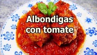 ALBONDIGAS EN SALSA DE TOMATE - recetas de cocina faciles rapidas y economicas de hacer