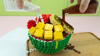 Lego Bingsu - Lego In Real Life 17 / Stop Motion Cooking & ASMR