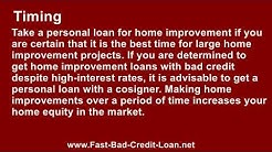 Where To Find Home Improvement Loans With Bad Credit