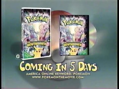 Pokemon The First Movie 5 Days Vhs Dvd Commercial 2000 Youtube