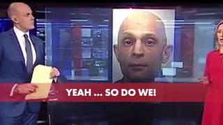 Funny Fail. BBC reporter looks like a wanted criminal