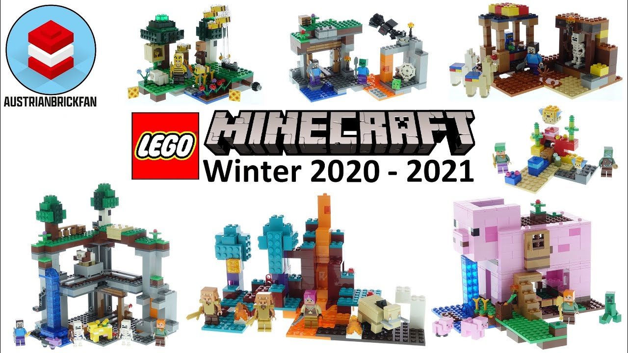 Download All Lego Minecraft Sets Winter 2020-2021 - Lego Speed Build Review