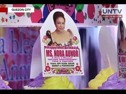 Superstar Ms. Nora Aunor, ipinagdiwang ang ika-64 kaarawan
