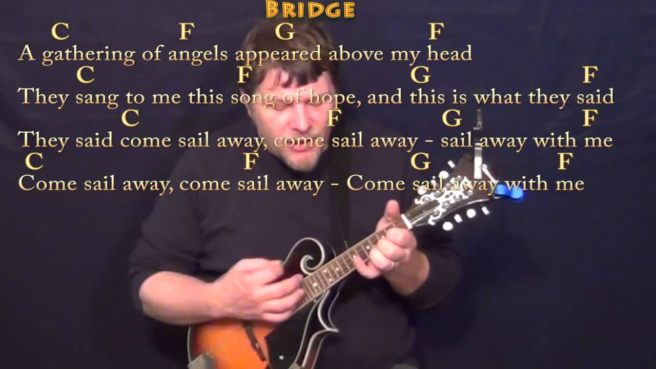 Come Sail Away Styx Mandolin Cover Lesson With Chordslyrics Youtube