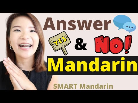 How to Answer Yes and No in Mandarin Chinese?