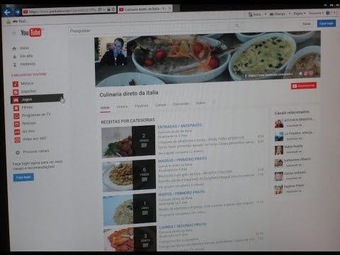 Como se inscrever gratis  no canal do Culinaria direto  da Italia