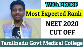 NEET 2020 Expected Cut off Tamilnadu Government Medical Colleges | NEET Strategies In Tamil