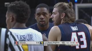 NCAAB 11 25 2016 Illinois vs West Virginia NIT Season Tip Off 720p60