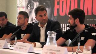 CALLUM SMITH v ROCKY FIELDING - PRESS CONFERENCE VIDEO (WITH EDDIE HEARN) / WHO