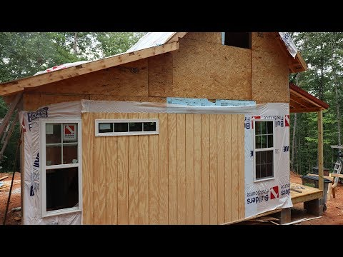 Construction on Tiny Cabin in Toccoa, GA