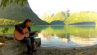 Norwegian Wood -  Played In NORWAY (At Hjelle) - Fingerstyle Solo Guitar - Helmut Bickel