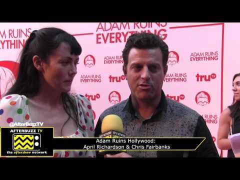 Adam Ruins Hollywood Red Carpet  April Richardson & Chris Fairbanks