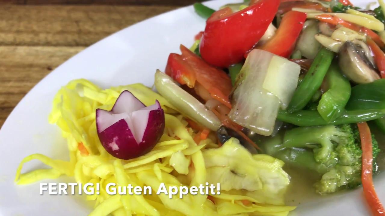 Chop Suey (vegetarisch) - Rezept - Pan Palast Bonn - YouTube