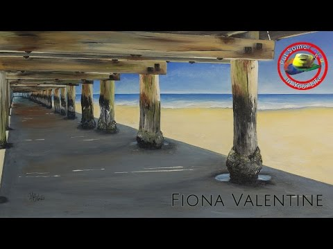 Art tips on How to Paint Acrylic Landscapes with Fiona Valentine on Colour In Your Life