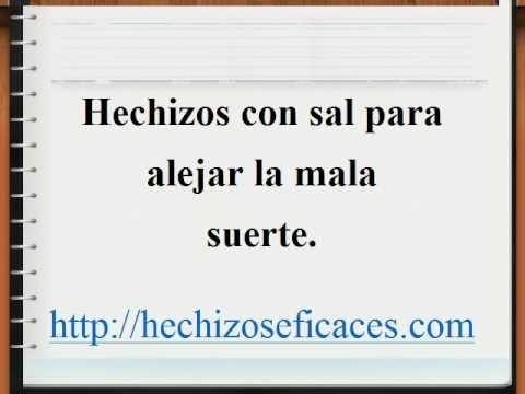 Nice Hechizos Con Sal Para Alejar La Mala Suerte.avi