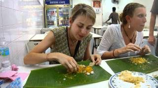Eating Delicious Indian Food Served On A Banana Leaf The Proper Way