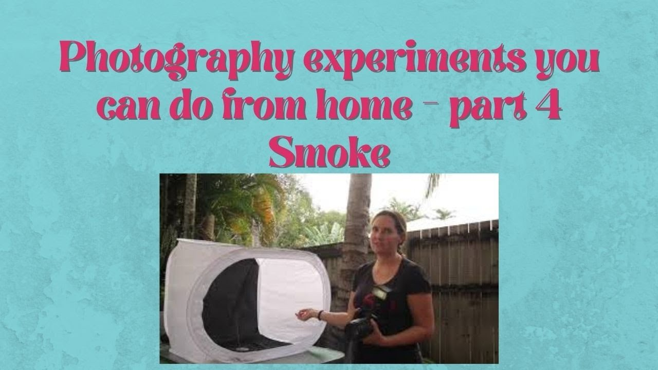 Photography Experiments to do from home - part 4 - Smoke