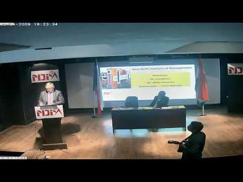 H.E. Mr. Milan Hovorka, Ambassador, Czech Republic at NDIM