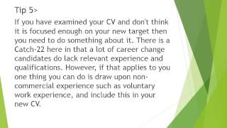 Career change CV checklist