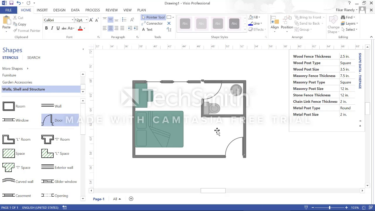 How to design our home using visio 2013 - YouTube