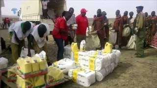 Kenya Red Cross kicks off relief food distribution in banditry prone villages