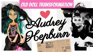 Audrey Hepburn Monster High Doll Repaint by Poppen Atelier #art #dolls #barbie