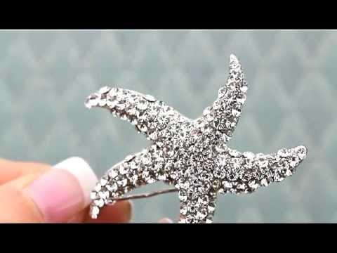 Rhinestone Starfish Hair Clip By Hair Comes The Bride