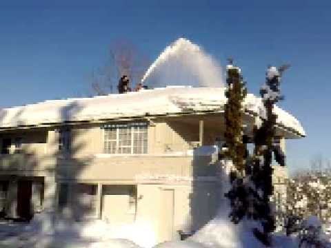 Snowblower On Roof Youtube