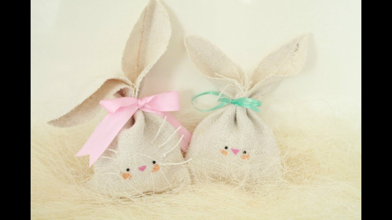 Diy easy easter gift idea bunny treat bag hd youtube negle Image collections