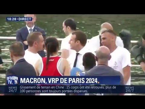 Quand Emmanuel Macron monte sur le ring pour défendre la candidature de Paris aux JO 2024