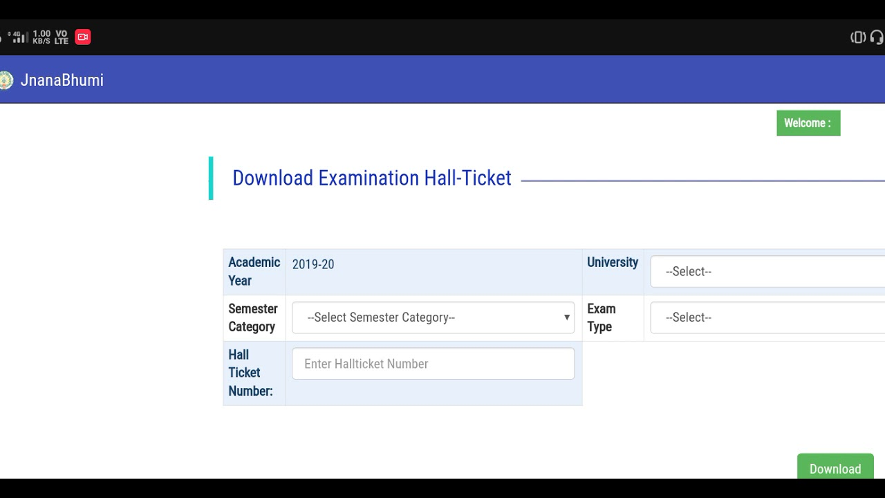 Sk University Hall Tickets Vachesay Friends See The Download Process Youtube