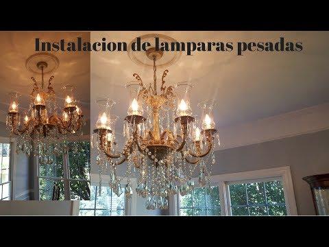 Como instalar lamparas pesadas