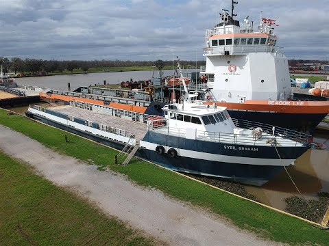 """""""Sybil Graham"""" 185ft Crew Vessel Selling March 26th, 2020"""