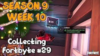 Collecting Fortbyte #29 Location Guide - Fortnite Season 9 Week 10