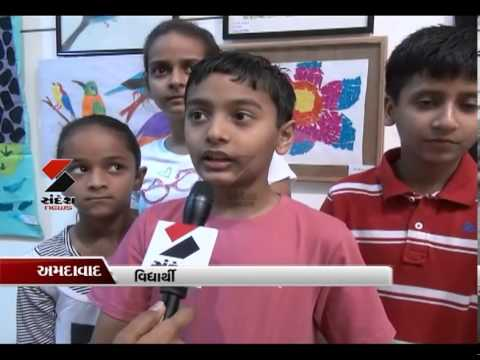 Sandesh News- Painting & Drawing Exhibition of Children at Kanoria Art Center