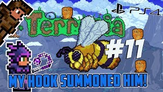 Terraria Ps4 - MY HOOK SUMMONED A BOSS [11]