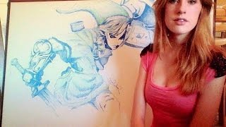 Legend Of Zelda: Speed draw on whiteboard
