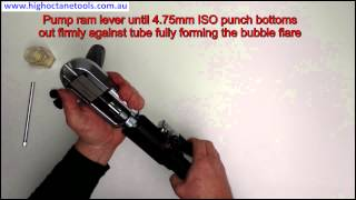 High Octane Tools 4.75mm Metric ISO bubble flare demonstration
