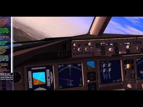 FSX- Captainsim 777-200LR Emirates- OMDB(Dubai)/VHHH(Hong Kong)