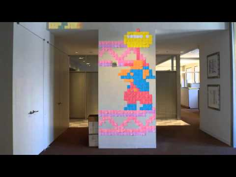 Post-it note arcade video brings Ms. Pac-Man, Mario to life