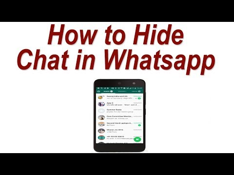 How To Hide Chat In Whatsapp ! How To Archive Whatsapp Chat