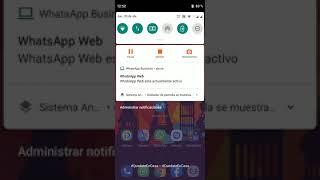 Como eliminar notificación de WhatsApp Web en nuestro Telefono