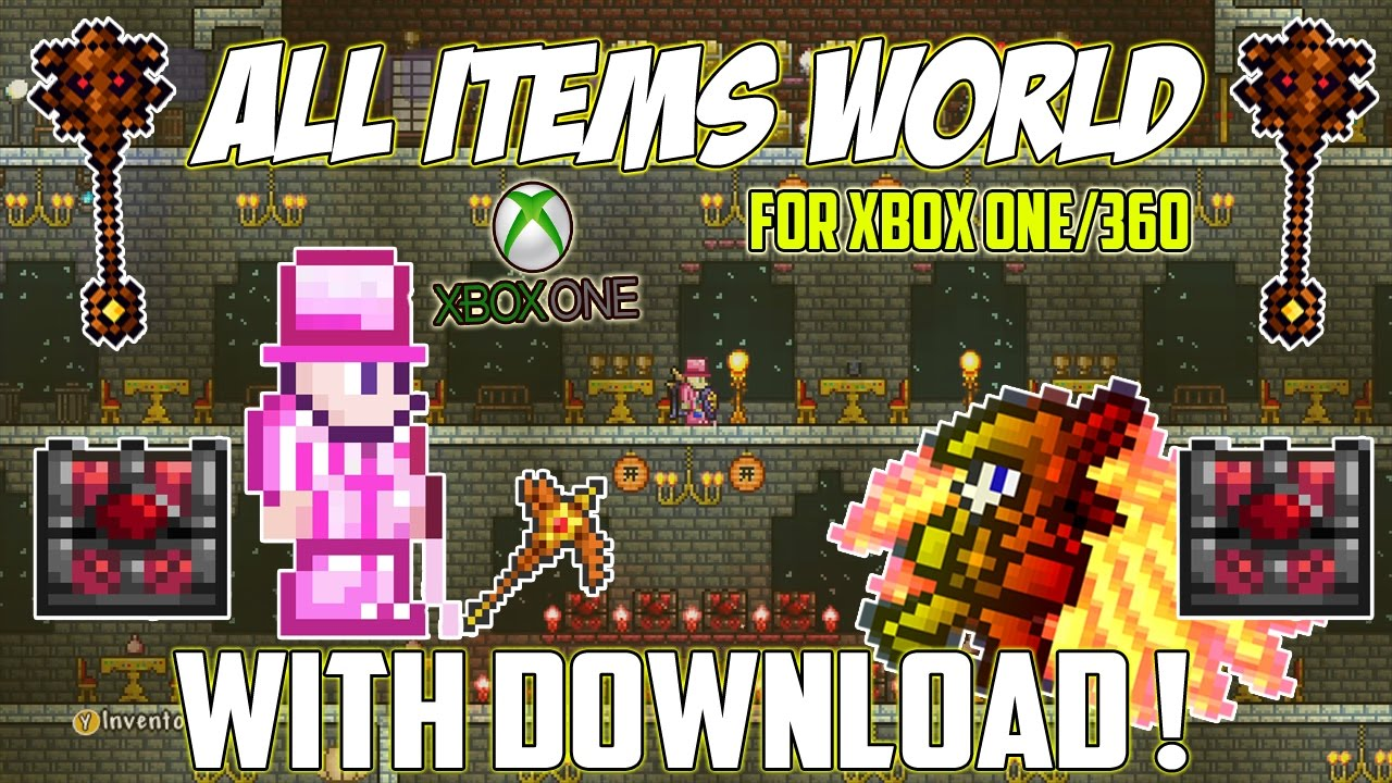 how to get all items world in terraria xbox one